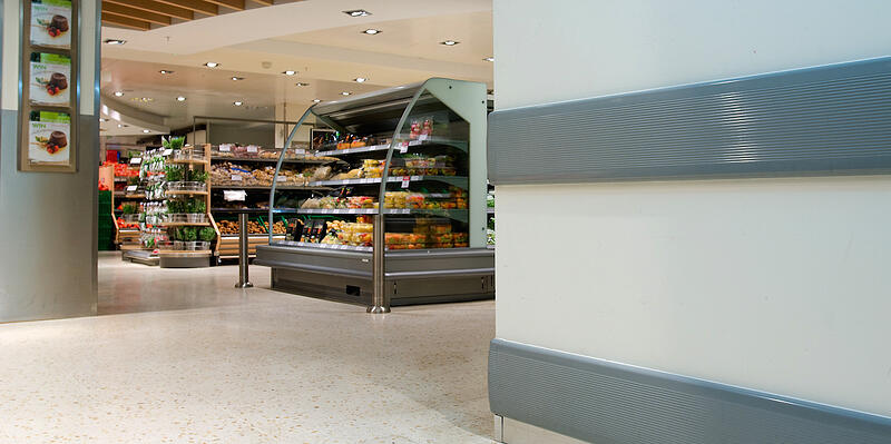 Wall Guards Protecting a Grocery Store