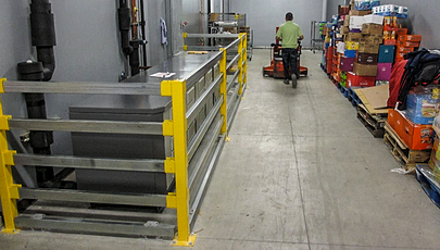 back room safety rails and bumpers