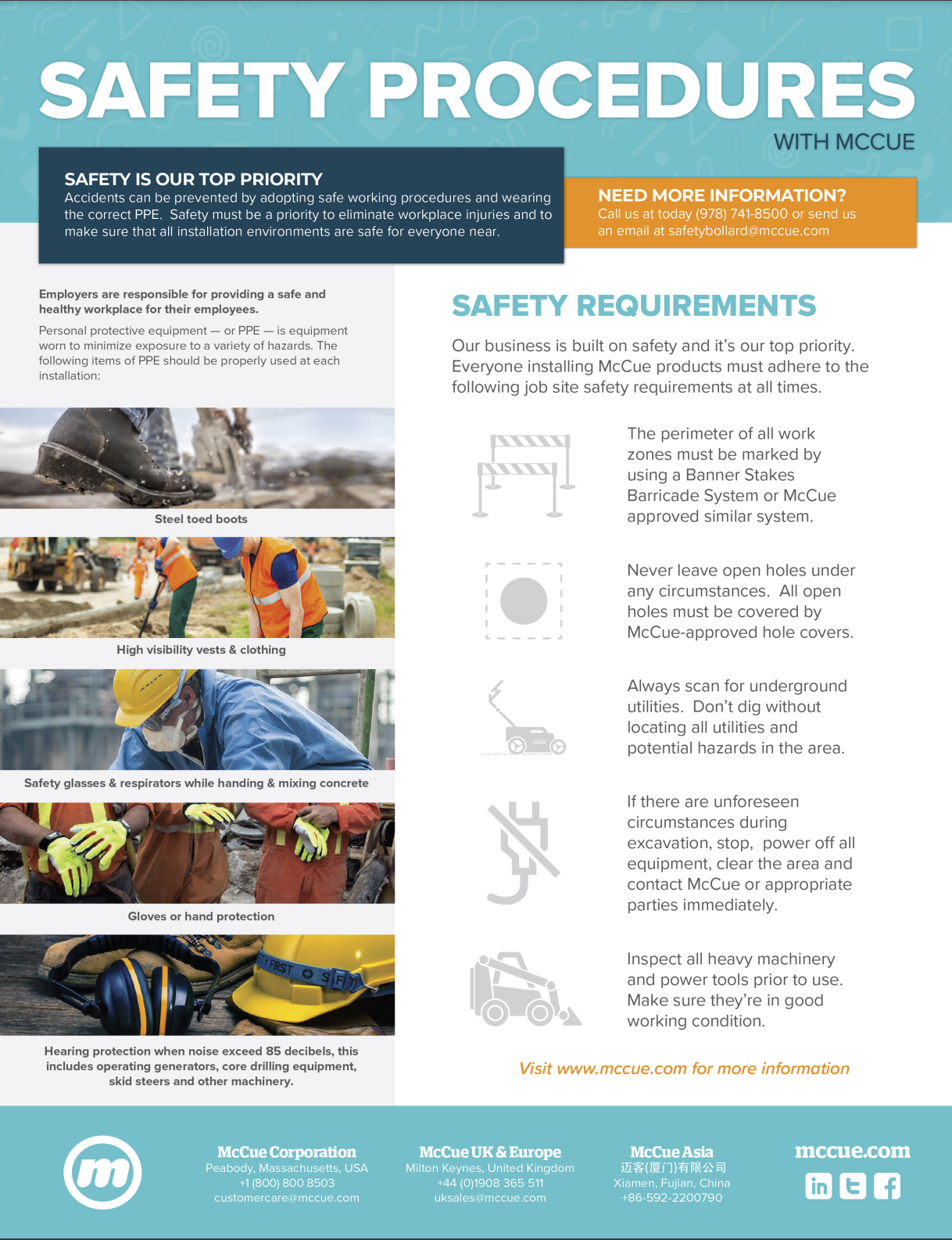 McCue Safety Procedures