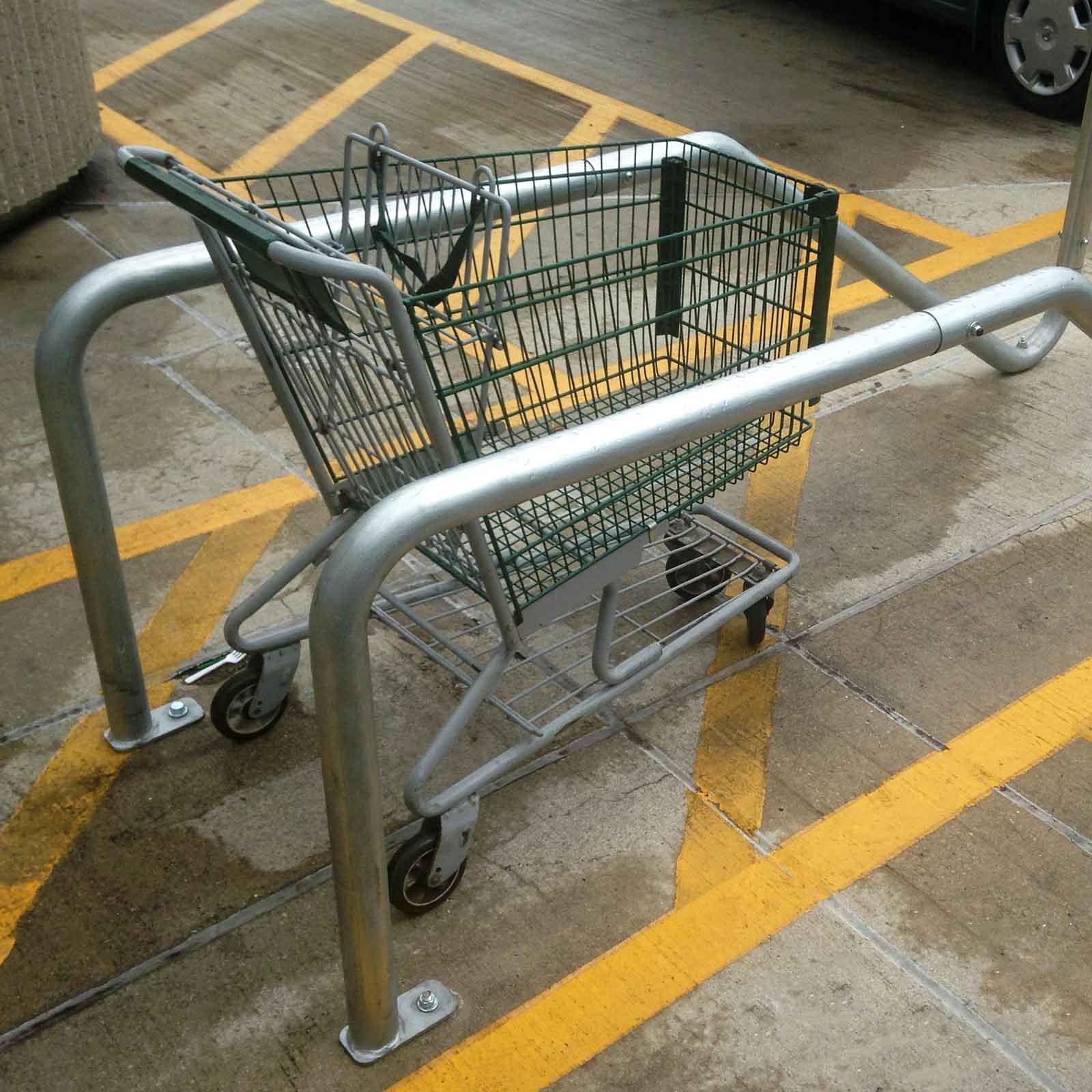 McCue Cart Corral On Sidewalk