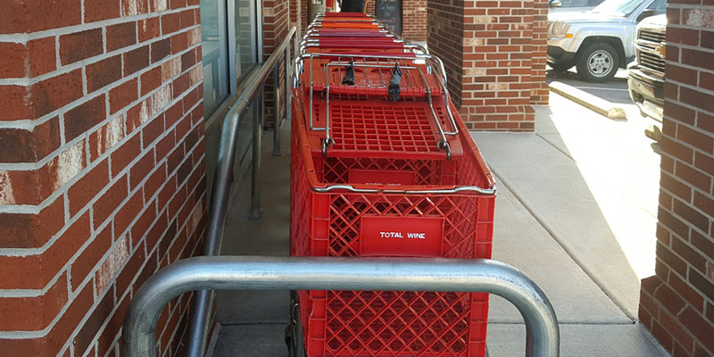 McCue Cart Corral on Sidwalk