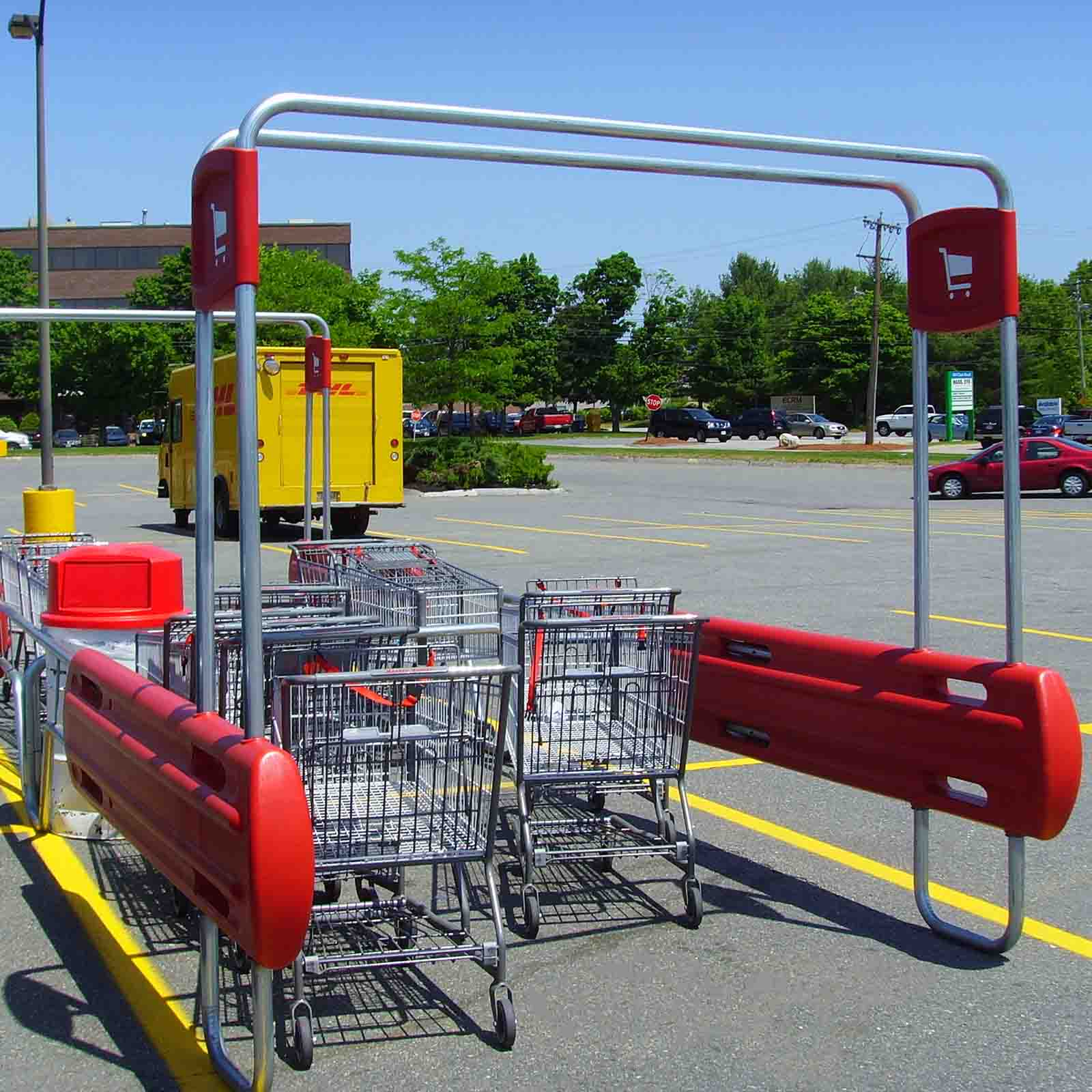 McCue Cart Corral In Parking Lot