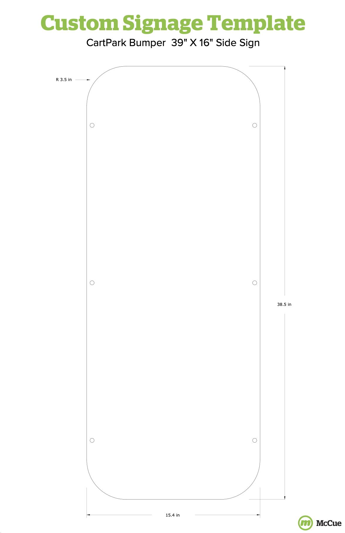 Rectangular Side Sign Template for CartPark Bumper