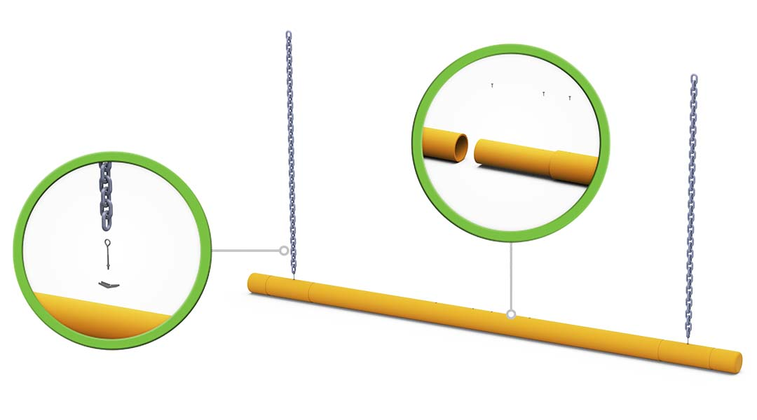 McCue Clearance Bar Safety Barrier in warehouse