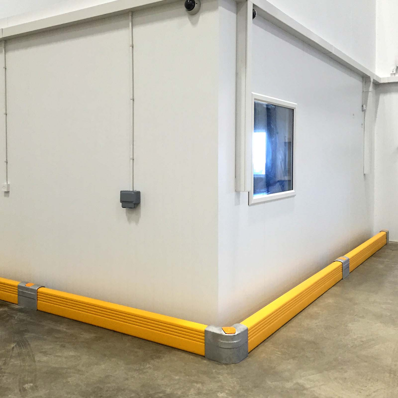 McCue Crash Barrier PLUS Safety Protection in warehouse