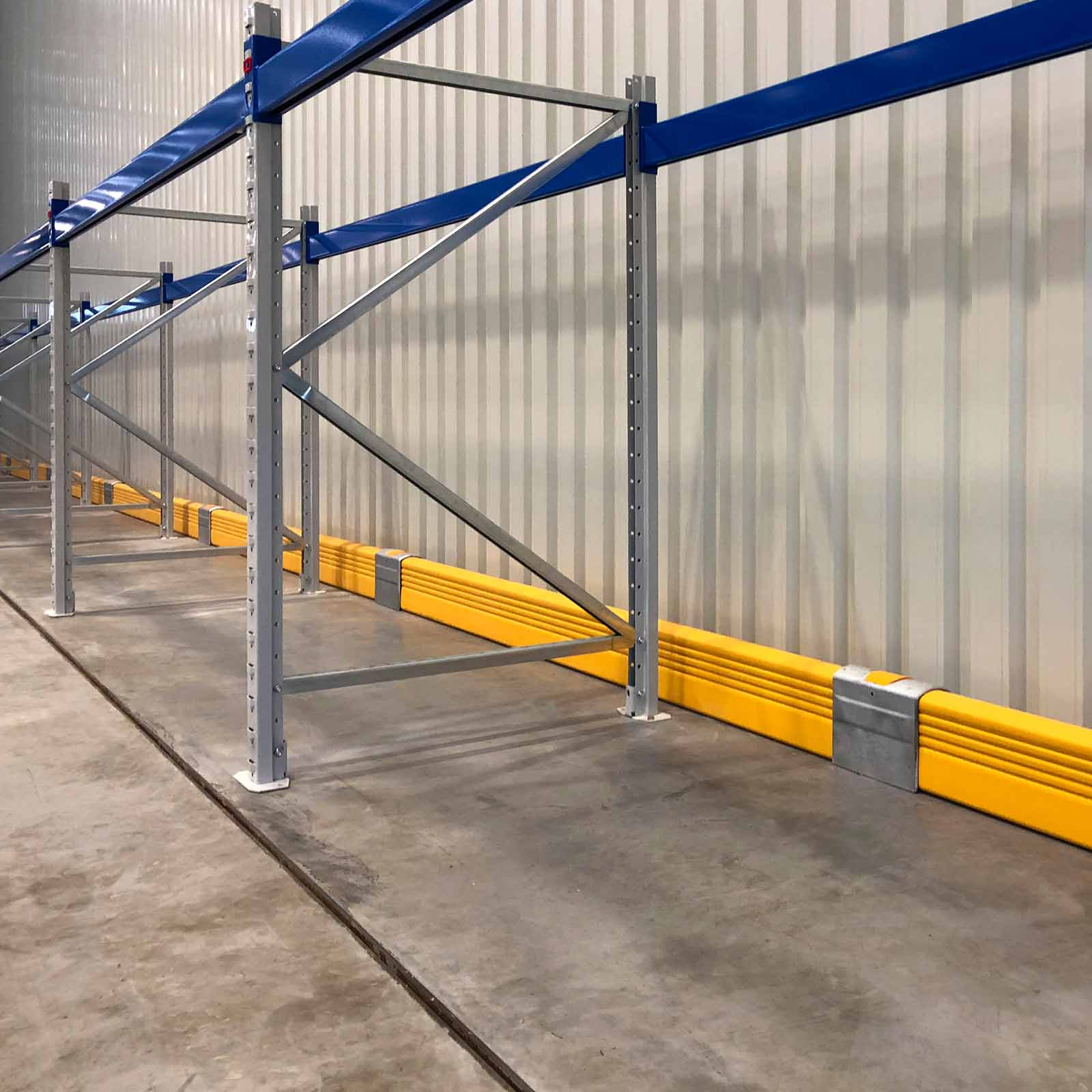 McCue Crash Barrier Safety Protection in warehouse