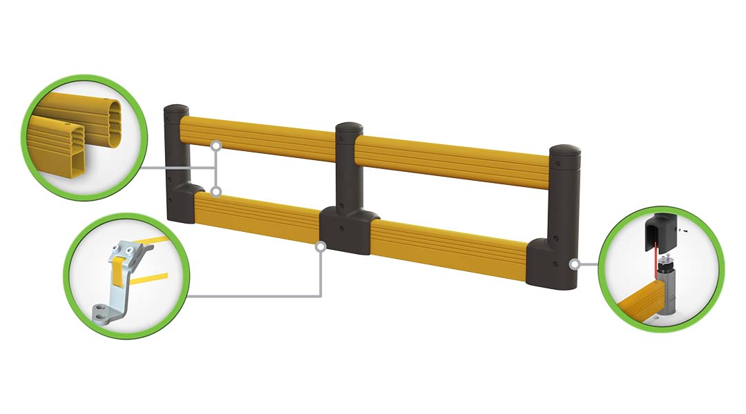 McCue FlexCore Guard Rail Plus Safety Barrier Protection How It Works