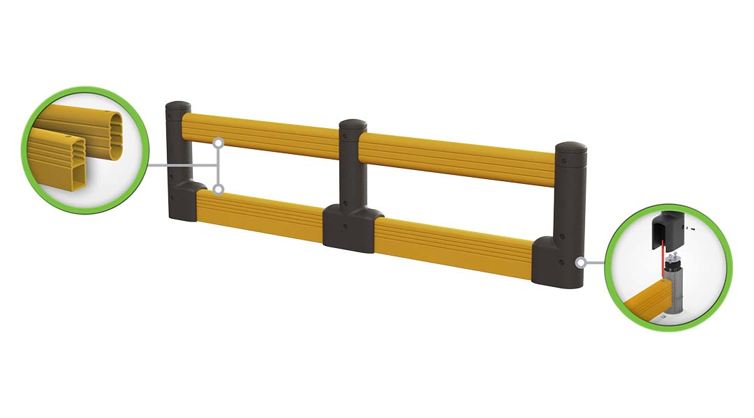 McCue FlexCore Guard Rail Safety Barrier Protection How It Works
