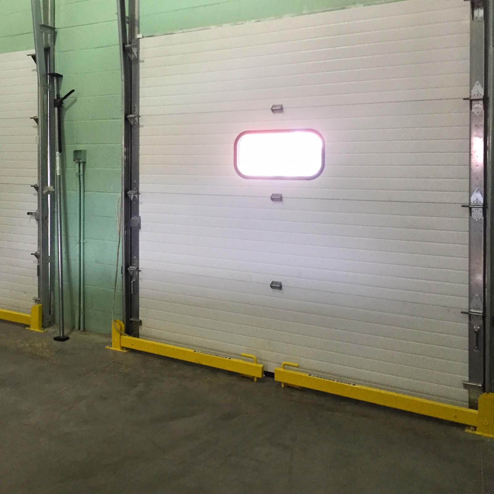 McCue Loading Door Protector infront of Warehouse door