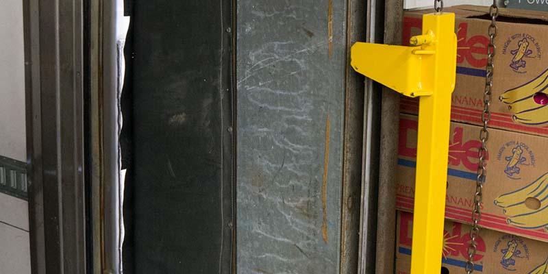 Loading Dock Door Protector infront of door