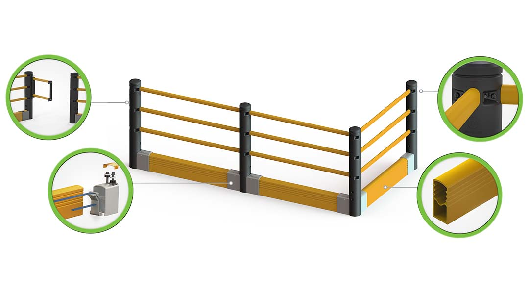 McCue Pedestrian Barrier Safety Protection with Floor Mounted Crash Barrier PLUS How It Works