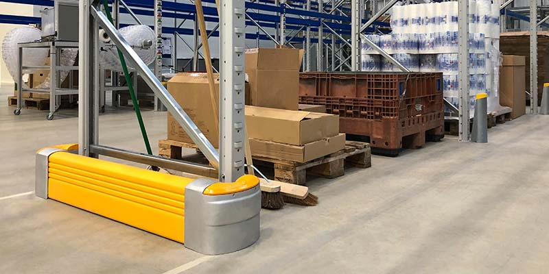 McCue Rack End Protector On Warehouse Racking