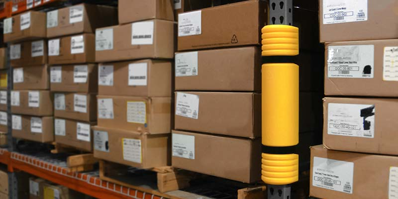 Rack Mounted Guard On Warehouse Racking