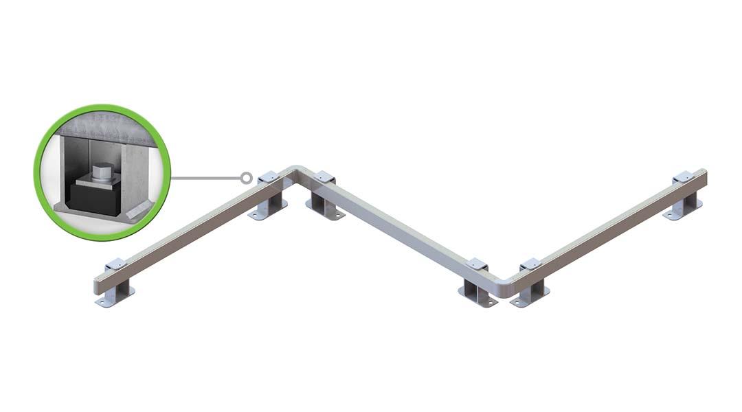 McCue Shock-Absorbing Box Rail Floor Rail How It Works