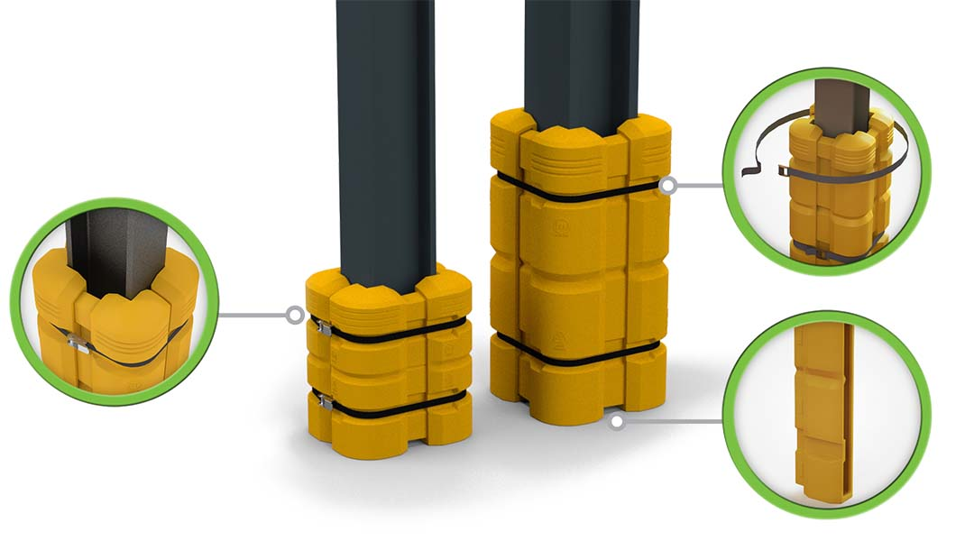 McCue Column Guard Safety Barrier Protection How it Works