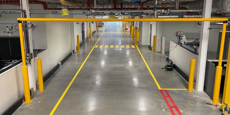 McCue Goal Post Warehouse Door Protection