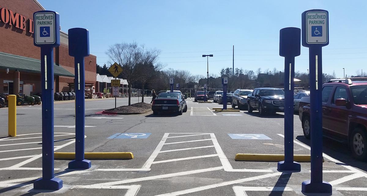 Parking Lot Sign Posts